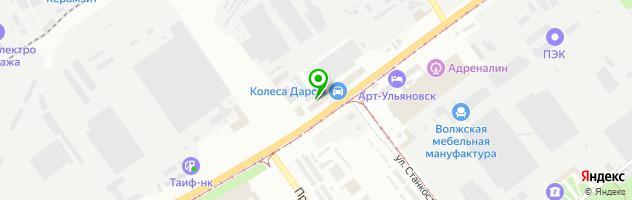 Торгово-сервисная компания Колеса даром — схема проезда на карте