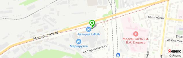 АвтоРай — схема проезда на карте