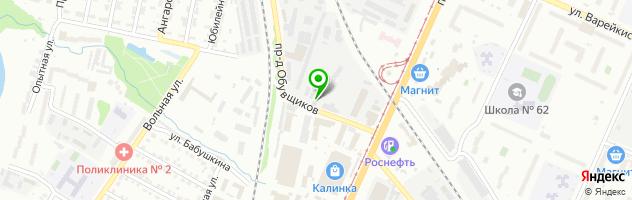 Техцентр Движок — схема проезда на карте