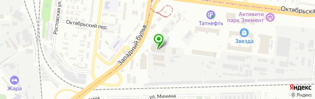 Торговая компания Зенит-Авто — схема проезда на карте
