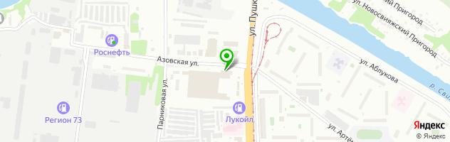 Торговая компания Гараж Профи — схема проезда на карте