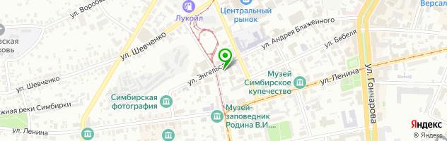 Музей-заповедник Родина В.И. Ленина — схема проезда на карте