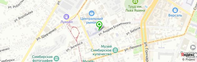 УлГТУ Ульяновский государственный технический университет — схема проезда на карте