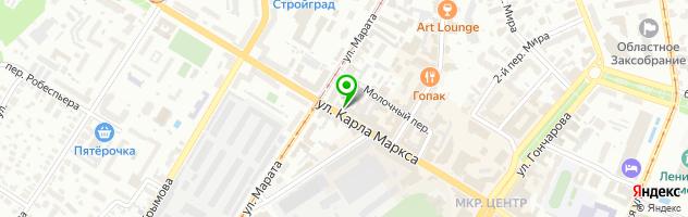 Кафе Сочи — схема проезда на карте
