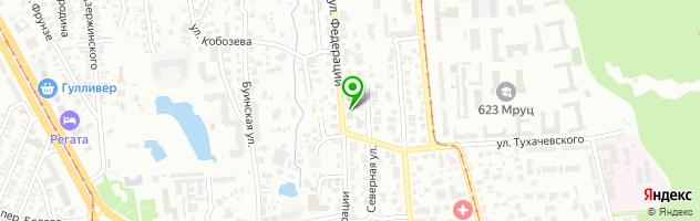 Гостиница Гончаровъ — схема проезда на карте