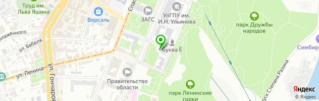 Ульяновский областной краеведческий музей им. И.А. Гончарова — схема проезда на карте