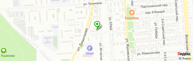 СТО Техцентр73 — схема проезда на карте