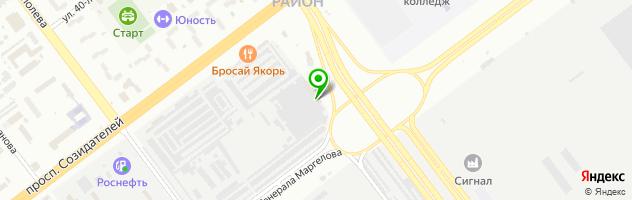 Автосервис Автомода — схема проезда на карте