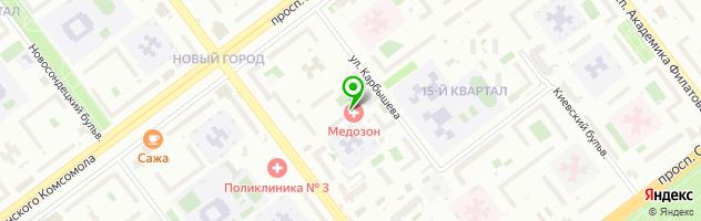 Медицинский центр Медозон — схема проезда на карте