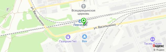 Автокомплекс Акцент — схема проезда на карте