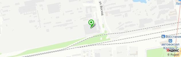 Торгово-производственная компания Тирас — схема проезда на карте