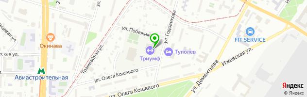 Спортивный комплекс Триумф — схема проезда на карте