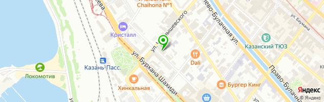 Гостиница Ramada Kazan City Center — схема проезда на карте