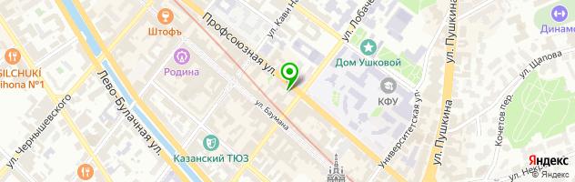 АБАК — схема проезда на карте