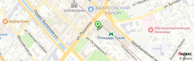 Гостиничный комплекс Татарстан — схема проезда на карте