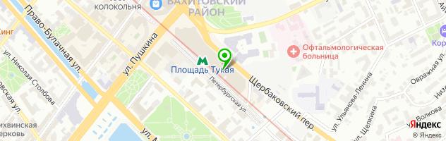 Отель Регина — схема проезда на карте