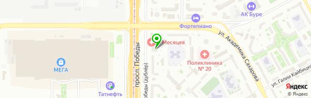 Медицинская клиника 9 месяцев — схема проезда на карте
