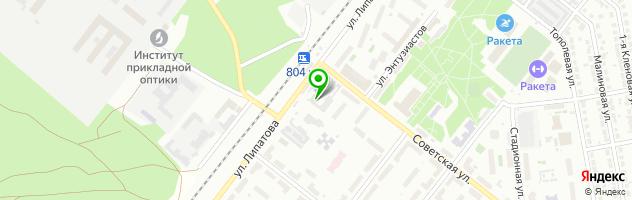 Сервисный центр — схема проезда на карте