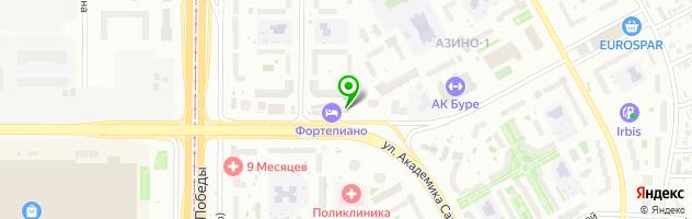 Гостинично-развлекательный комплекс FortePiano — схема проезда на карте