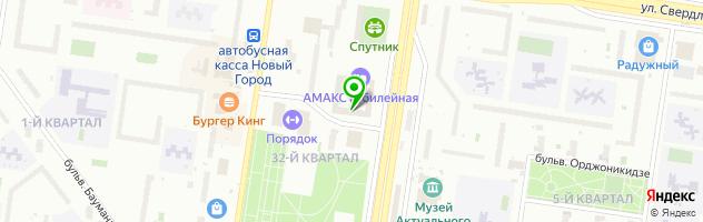 Ресторан Терраса, гостиничный комплекс AMAKS Юбилейная — схема проезда на карте