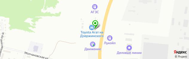 Автоцентр Toyota, Lexus Агат-Вятка — схема проезда на карте