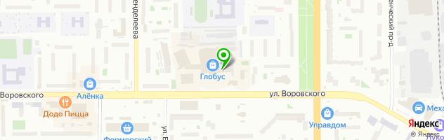 Салон оптики Айкрафт — схема проезда на карте