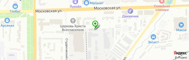 Кафе Уют-Компания — схема проезда на карте