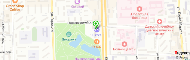 Гостиничный комплекс Вятка — схема проезда на карте