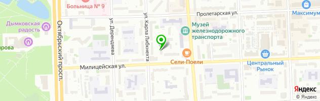 Торгово-сервисная компания Полиграфсервис — схема проезда на карте
