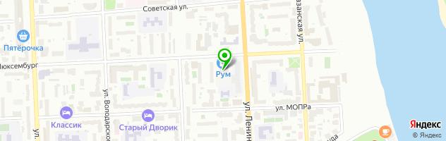 Ресторан быстрого питания Subway — схема проезда на карте