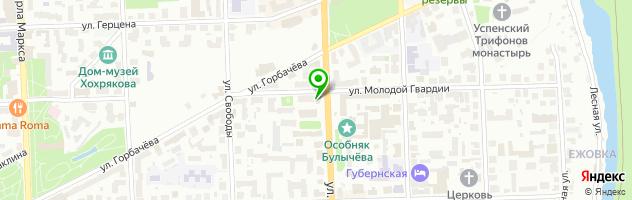Маникюр Violet Nails Киров (Виолет нэйлс) — схема проезда на карте
