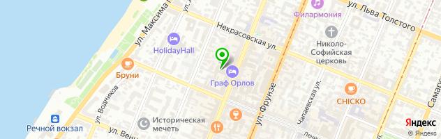 Гостиничный комплекс Граф Орлов — схема проезда на карте