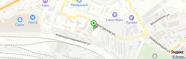 Автоцентр Гэмбл — схема проезда на карте