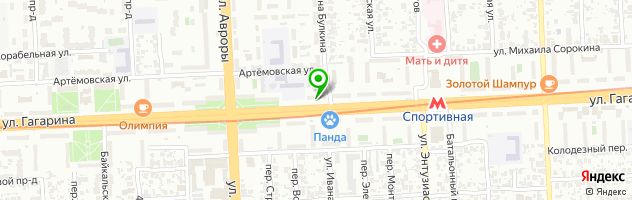 Ветеринарная клиника ZooHOME на улице Гагарина, 82 — схема проезда на карте