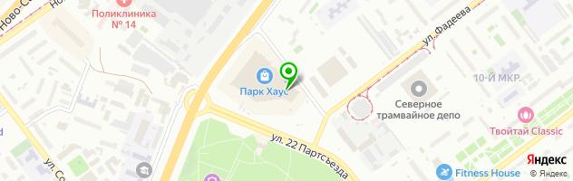 Аркада — схема проезда на карте