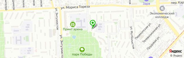 Ресторан украинской кухни Сытна Хата — схема проезда на карте