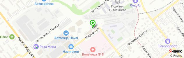 Автокомплекс NIKAuto на проспекте Карла Маркса — схема проезда на карте
