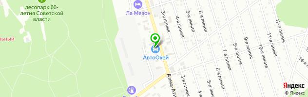 Автокомплекс АвтоОкей — схема проезда на карте