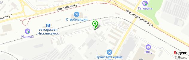 Сервимоторс — схема проезда на карте