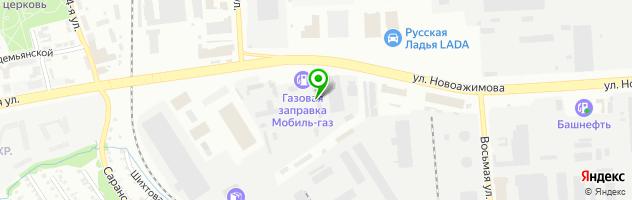 Автомагазин Автонадежда — схема проезда на карте