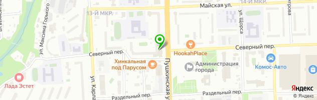 Ресторан Солод и Хмель — схема проезда на карте