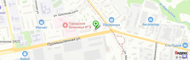 Автомастерская Авто-М — схема проезда на карте