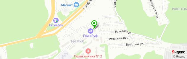 Мини-отель Грин Руф — схема проезда на карте