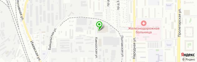 Оренбургский хлебокомбинат — схема проезда на карте