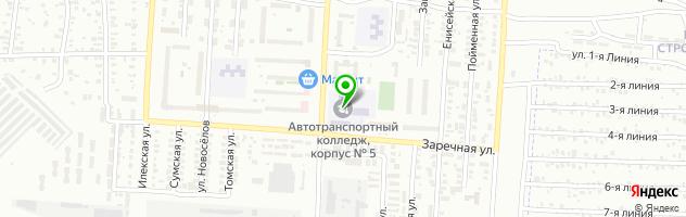 ОАТК Оренбургский автотранспортный колледж — схема проезда на карте