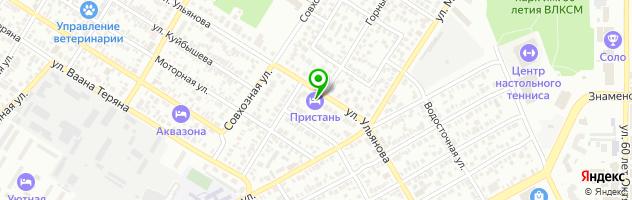 Гостиничный комплекс Пристань — схема проезда на карте