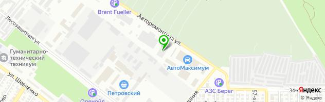 Установка ГБО в BOSCH-сервисе — схема проезда на карте