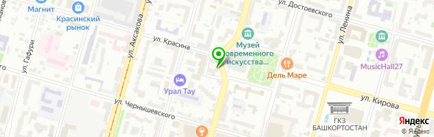 Медицинская клиника Медес Групп Уфа — схема проезда на карте