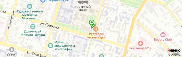 Кафе Театральное — схема проезда на карте