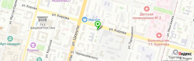 Пошив одежды на заказ Уфа   Студия Stipa_lab — схема проезда на карте